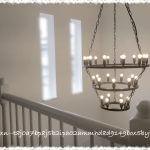 《Web内覧会*入居後》階段→2階吹き抜け&お気に入り照明♪